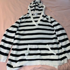 Striped Sweater with Hood